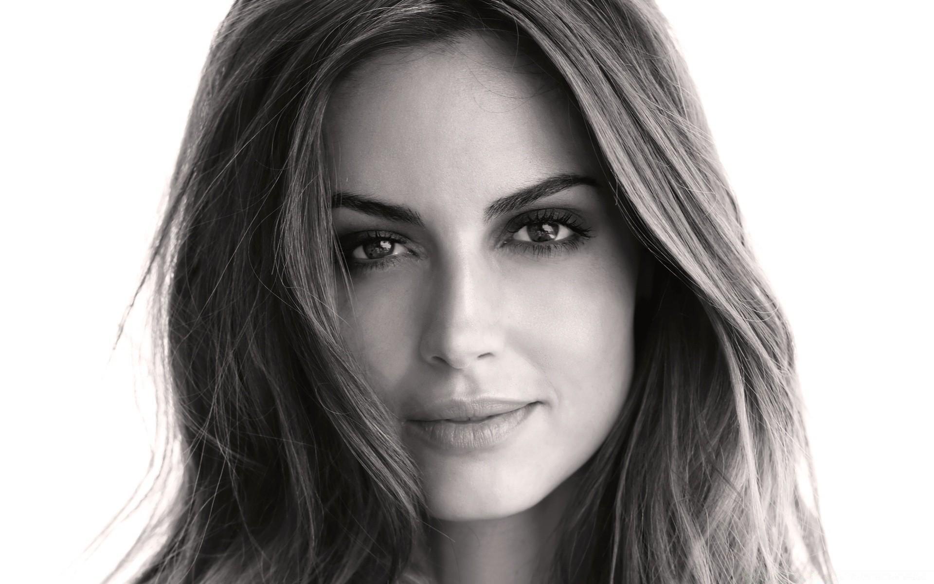 The Other Girls Woman Portrait Fashion Girl Model Eye - Beautiful Woman Face Black And White - HD Wallpaper