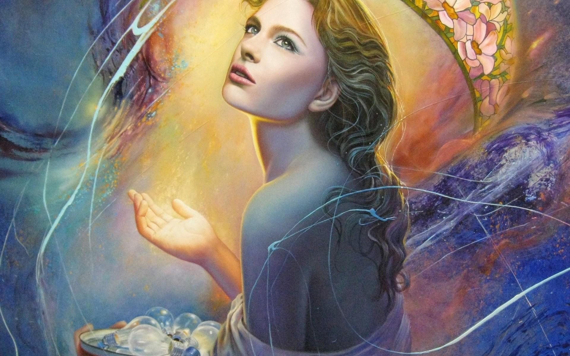 Most Beautiful Painting Woman - HD Wallpaper