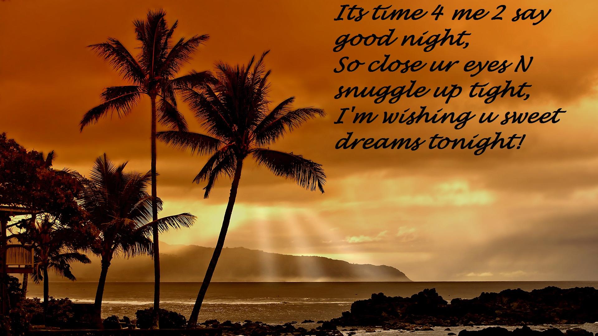 Good Night Quote Wallpaper - Good Night Hd Quotes - HD Wallpaper