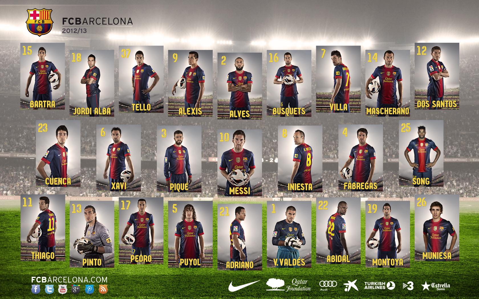 Barça - Barcelona Team Players Name - HD Wallpaper