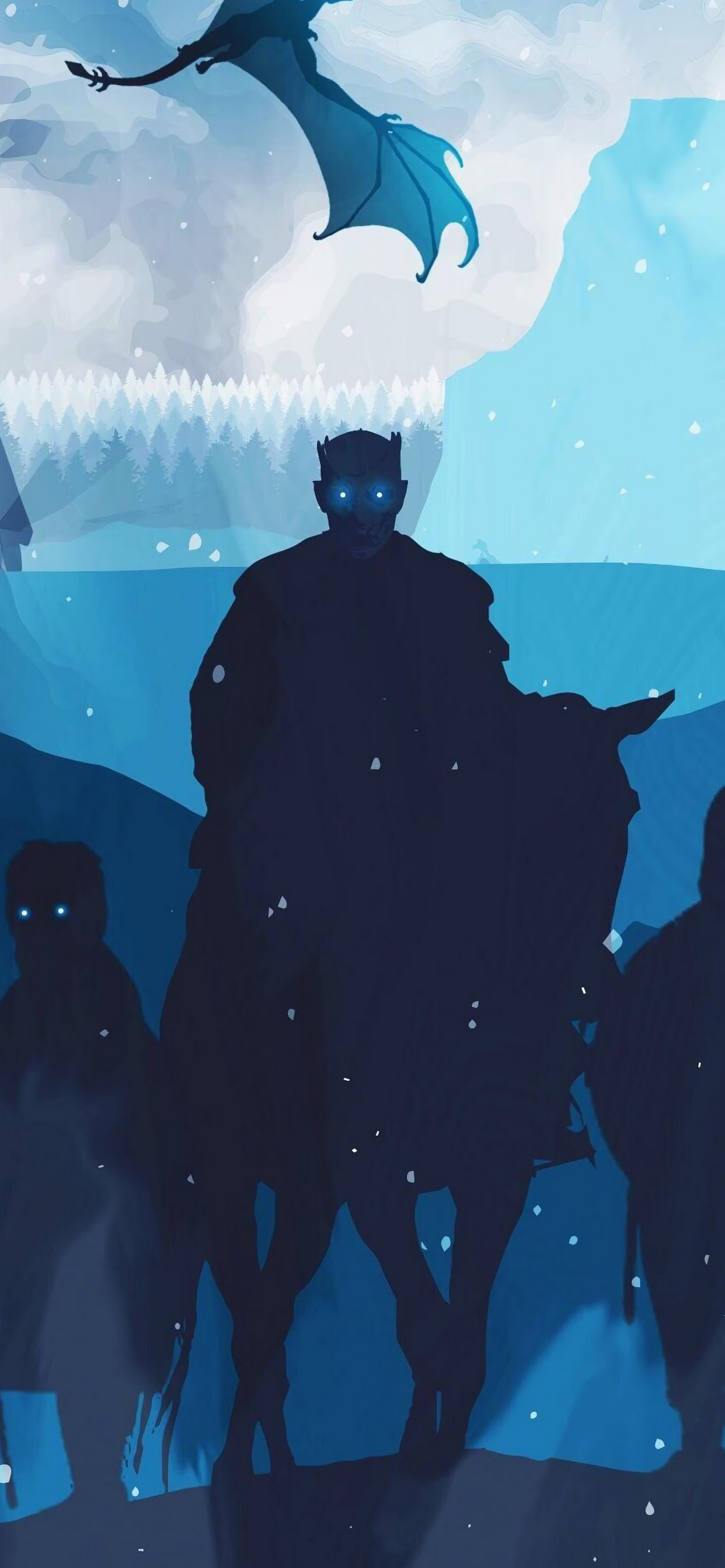 Night King, White Walkers, Army, Minimalist, Game Of - Game Of Thrones Phone - HD Wallpaper