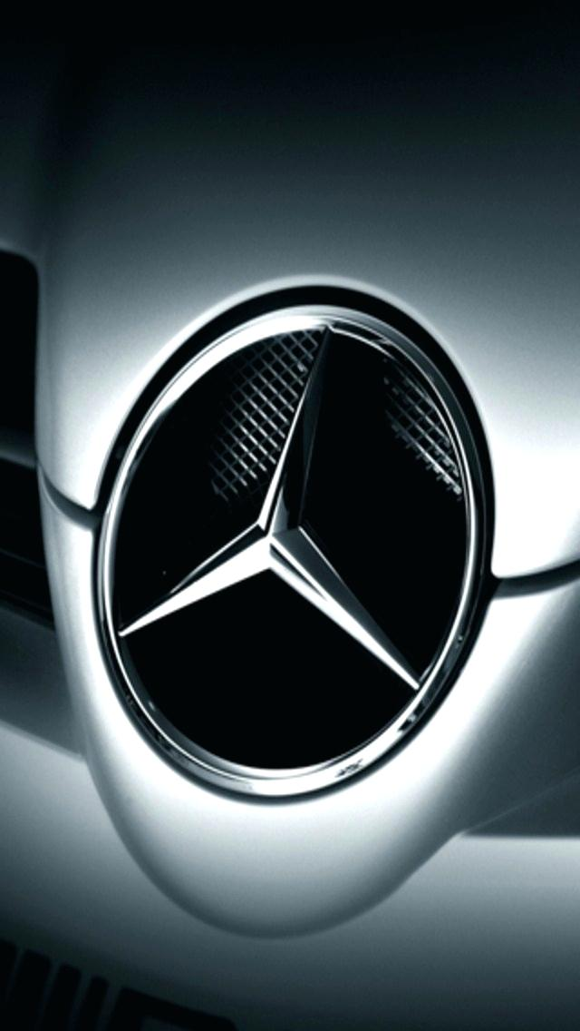 Mercedes Benz Wallpapers For Iphone Logo On Car Logo Wallpapers Iphone 640x1136 Wallpaper Teahub Io