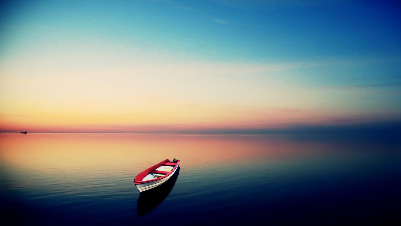 Lake Boat Sunset Hd Wallpaper Cool Wallpapers - Empty Backgrounds