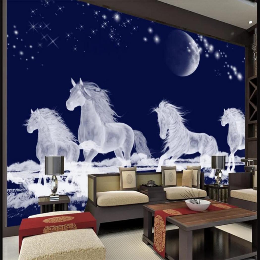 ซ อท ไหน 3d Wallpaper Hd Stereo Running Horse Tv Horses In The Moonlight 1050x1050 Wallpaper Teahub Io