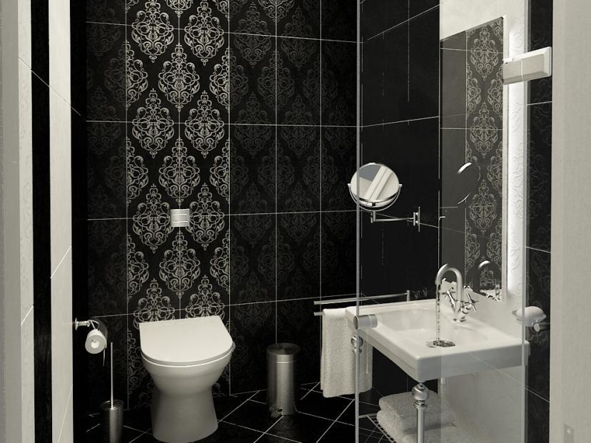 Contemporary Black And White Bathroom Color - Top Trends In Bathroom Design 2017 - HD Wallpaper