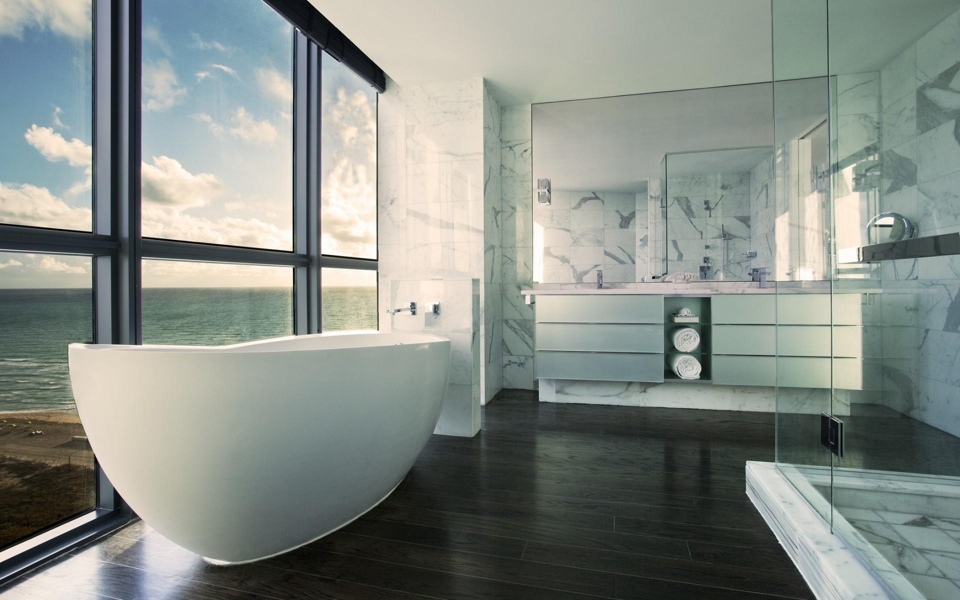 Modern Bathroom Hd - HD Wallpaper