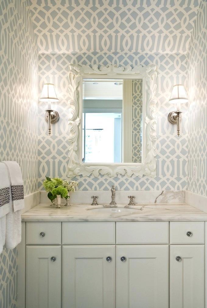Bathroom Wallpaper Ideas Bathroom Wallpaper Ideas Luxury - Imperial Trellis - HD Wallpaper