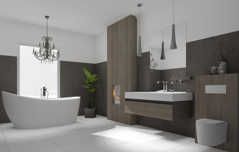 Photo Wallpaper Design, Interior, Modern, Bathroom - Bathroom Interior Design Hd - HD Wallpaper