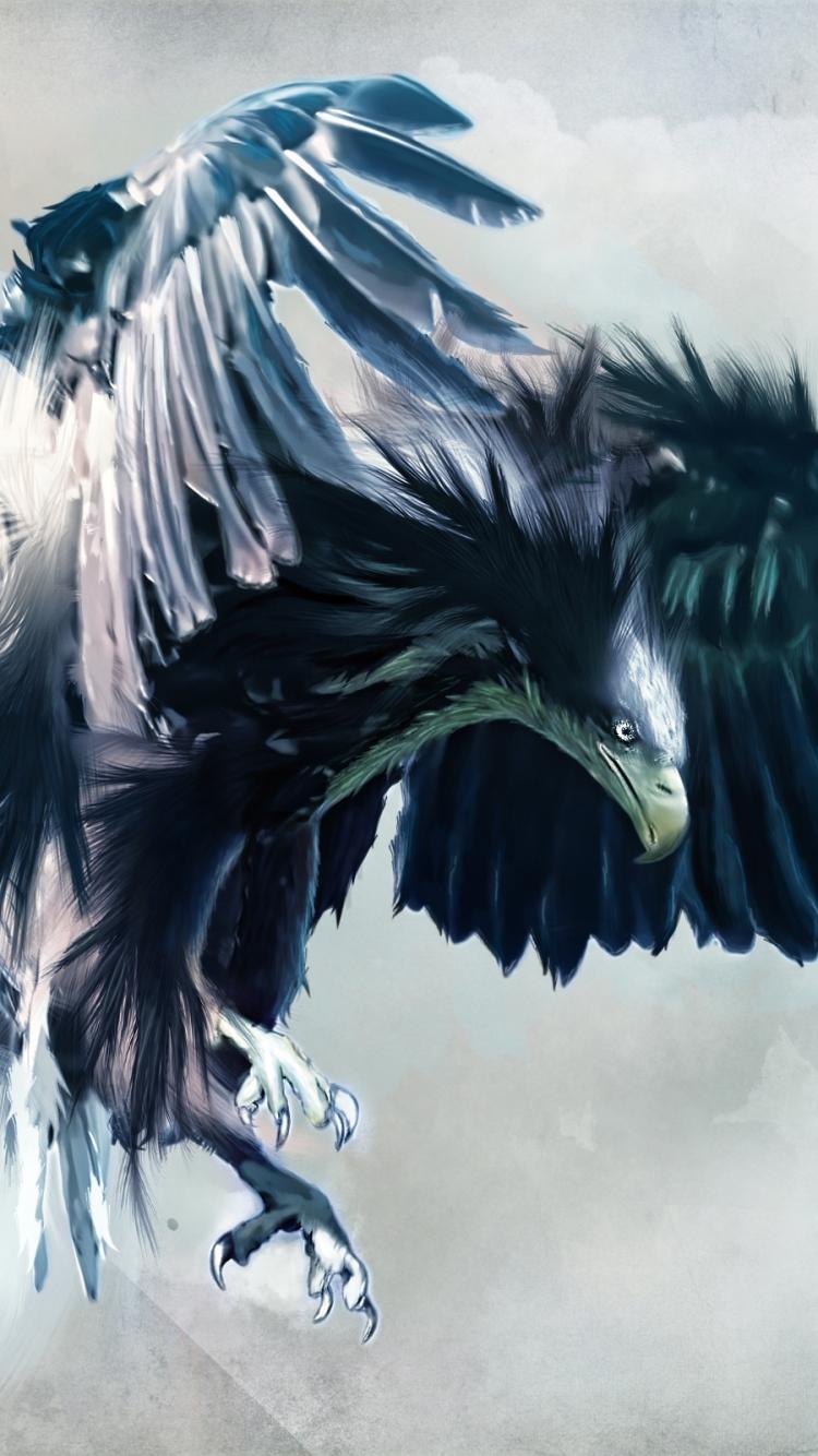 Black Eagle Wallpaper Hd 750x1334 Wallpaper Teahub Io