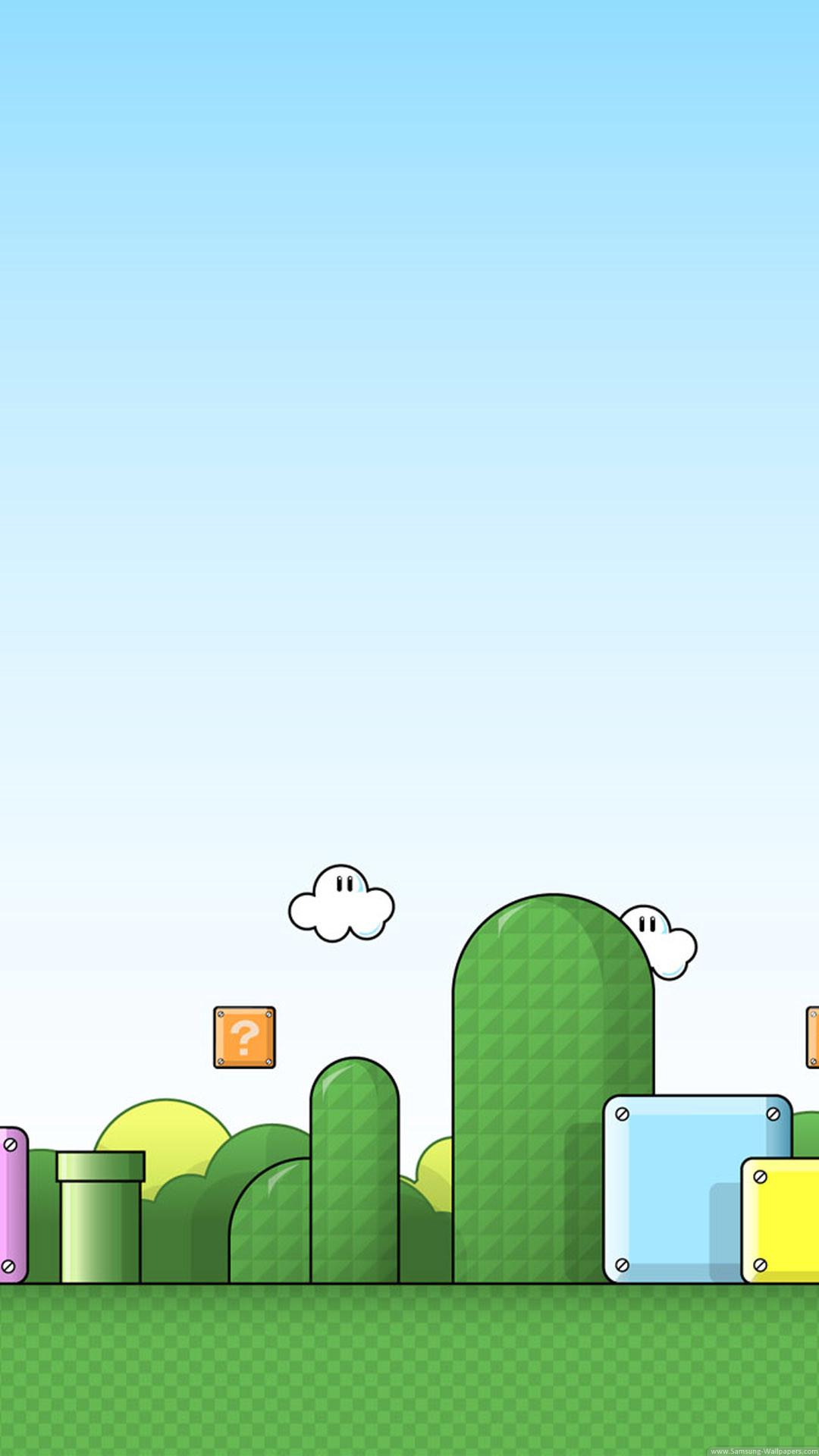 1080x1920, Super Mario World Mountains Wallpaper For - Mario Background Phone - HD Wallpaper