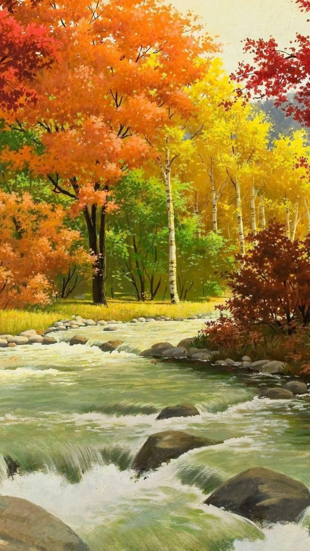 Portrait Hd Nature Wallpapers - Bob Ross Painting Iphone - HD Wallpaper