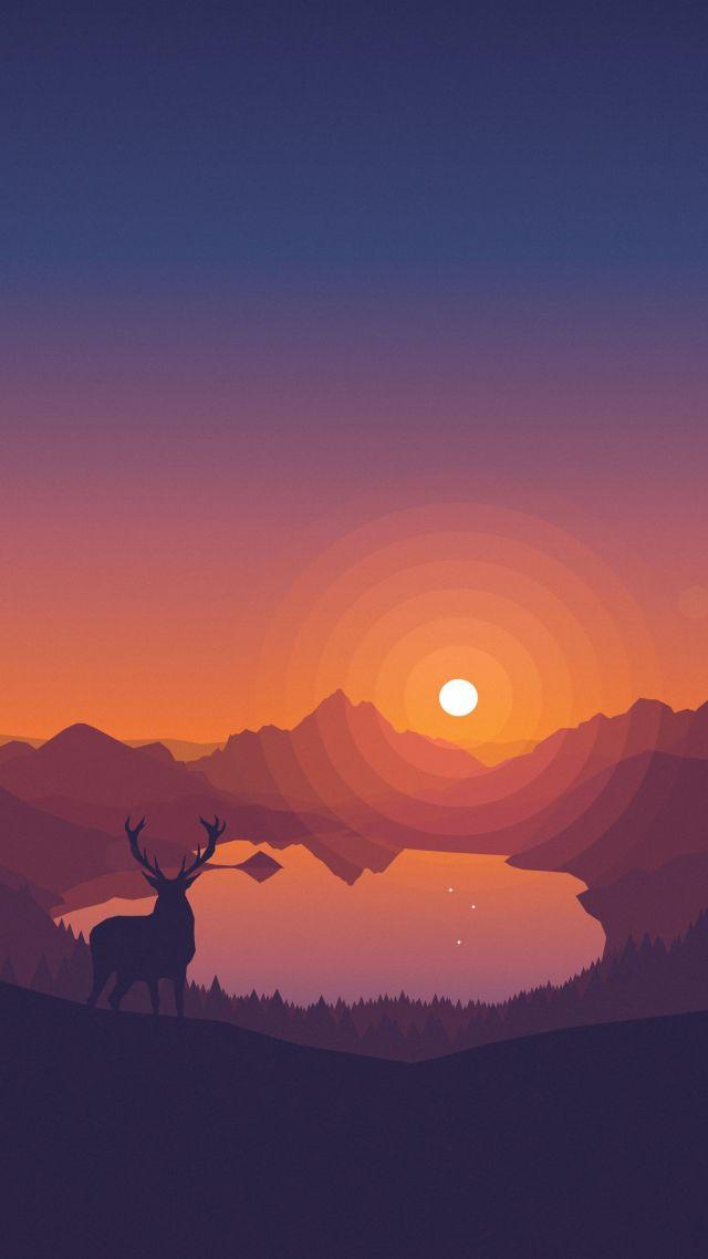 Firewatch 4k 8k Art Forest Firewatch Phone Wallpaper 4k 640x1138 Wallpaper Teahub Io