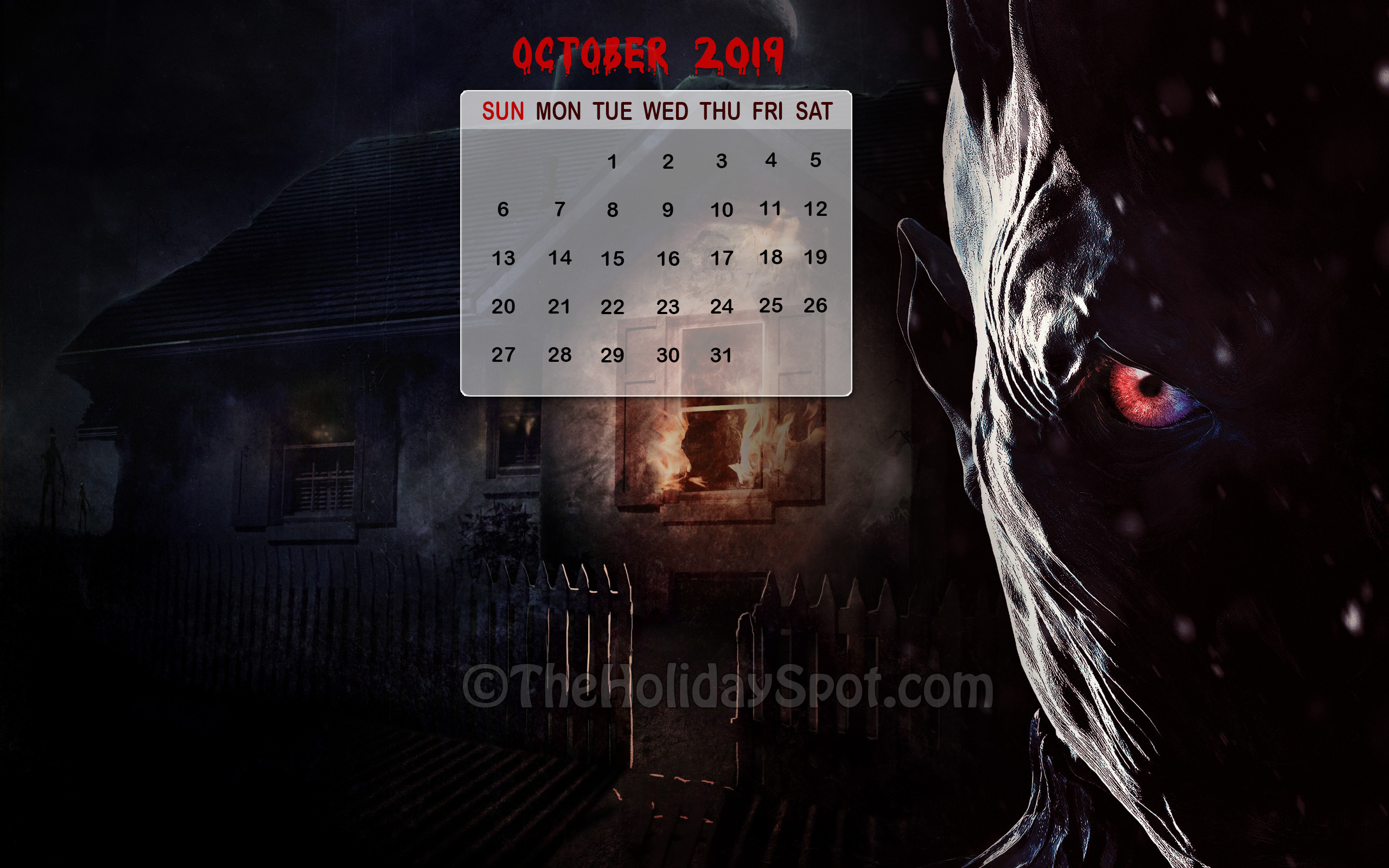 Halloween Themed Calendar Wallpaper For The Month Of - Game Of Thrones Season 7 Episode 1 Torrent - HD Wallpaper
