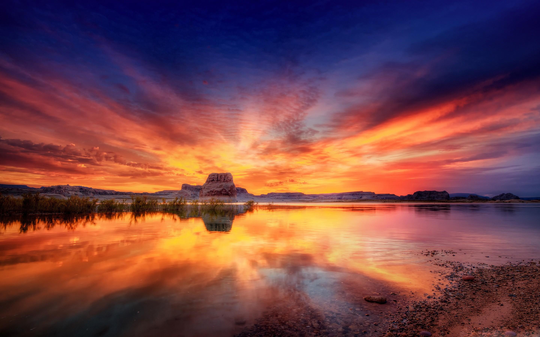 Sunset Hd Desktop Top Ocean Beautiful Photos Hd Wallpapers Hd Wallpaper Pc Sunset 2880x1800 Wallpaper Teahub Io
