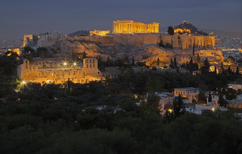 Photo Wallpaper Greece, Athens, The Acropolis - Fond D Écran Athenes - HD Wallpaper
