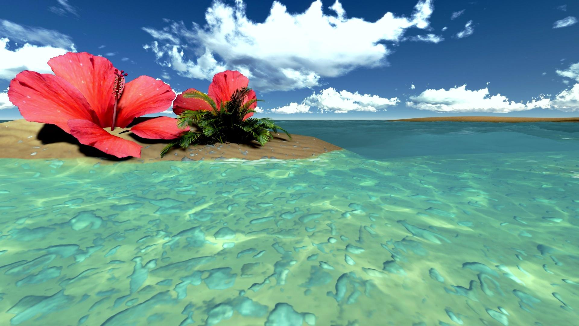 Tropical Free Beach Backgrounds - HD Wallpaper