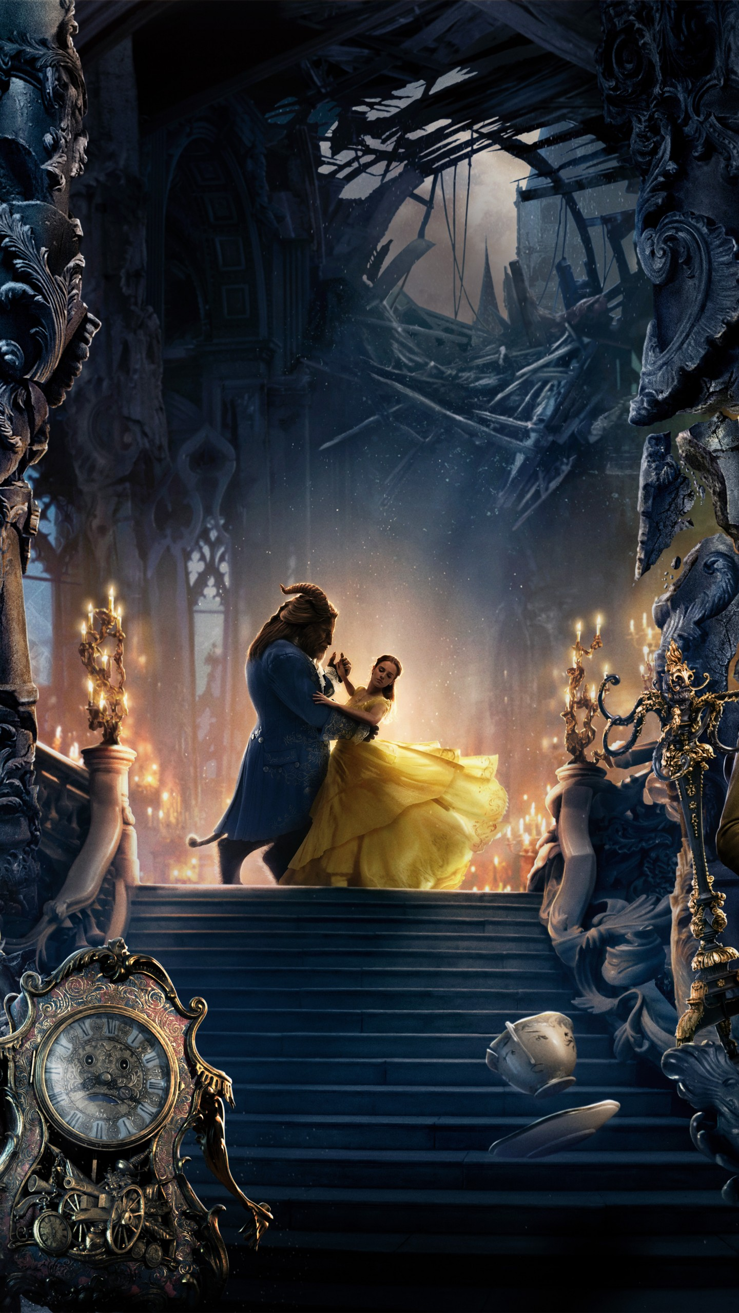 disney beauty and the beast poster 1440x2560 wallpaper teahub io disney beauty and the beast poster