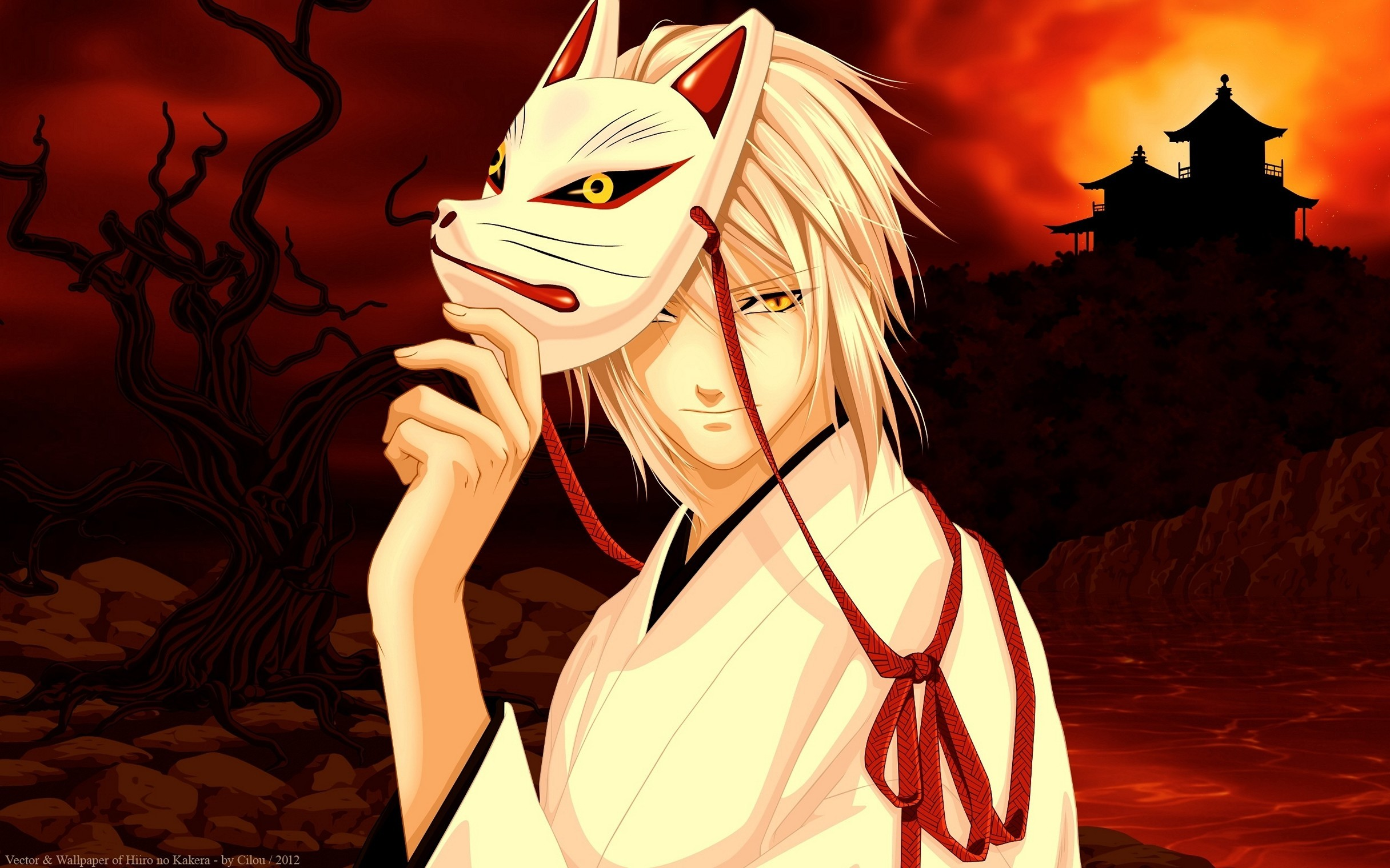 2432x1520, Today Wallpaper Download Picture Parts Of - Anime Guy Kitsune Mask - HD Wallpaper