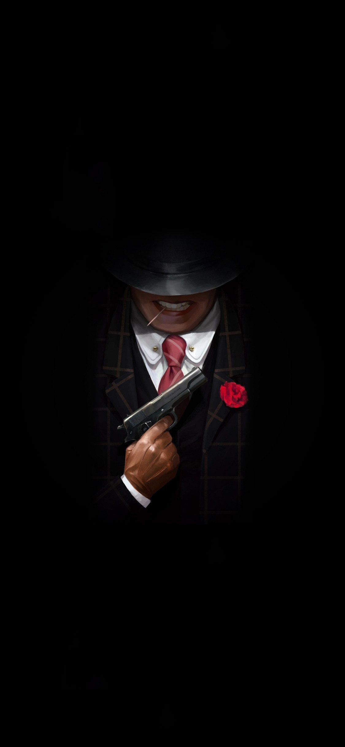 1125x2436 Download Wallpaper Gangster With Gun Minimal Gun Wallpaper Iphone X 1125x2436 Wallpaper Teahub Io
