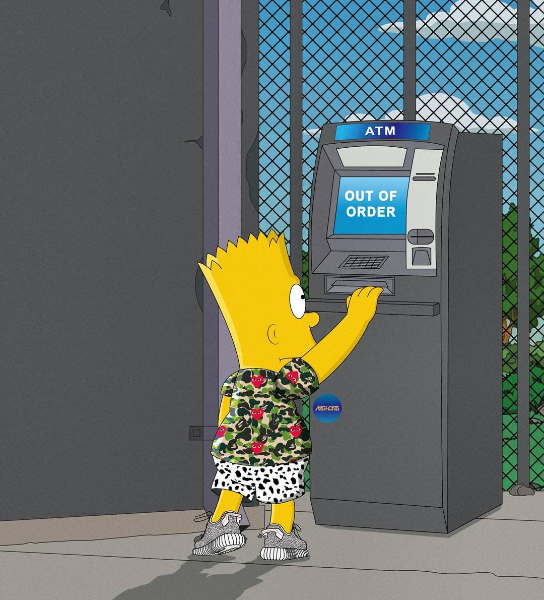 Bart Simpson Gangster Wallpaper Simpson Sneakers 1080x1190 Wallpaper Teahub Io