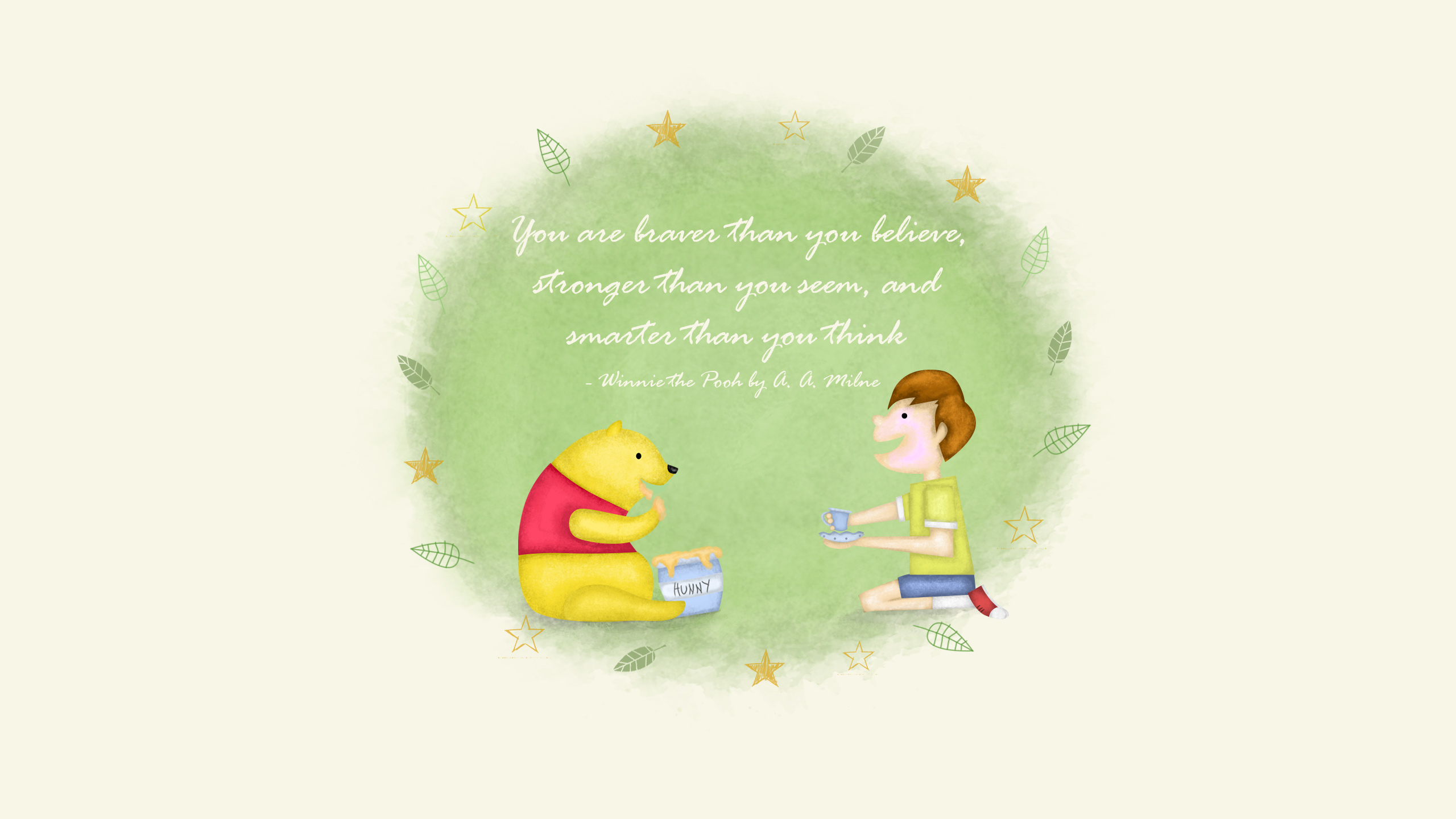Blessing From Winnie The Pooh - HD Wallpaper