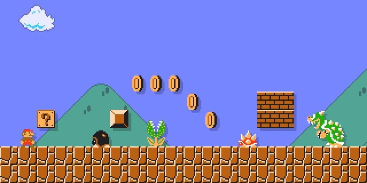 Bring Super Mario To Your Desktop Or Home Screen With - Super Mario Game Screen - HD Wallpaper