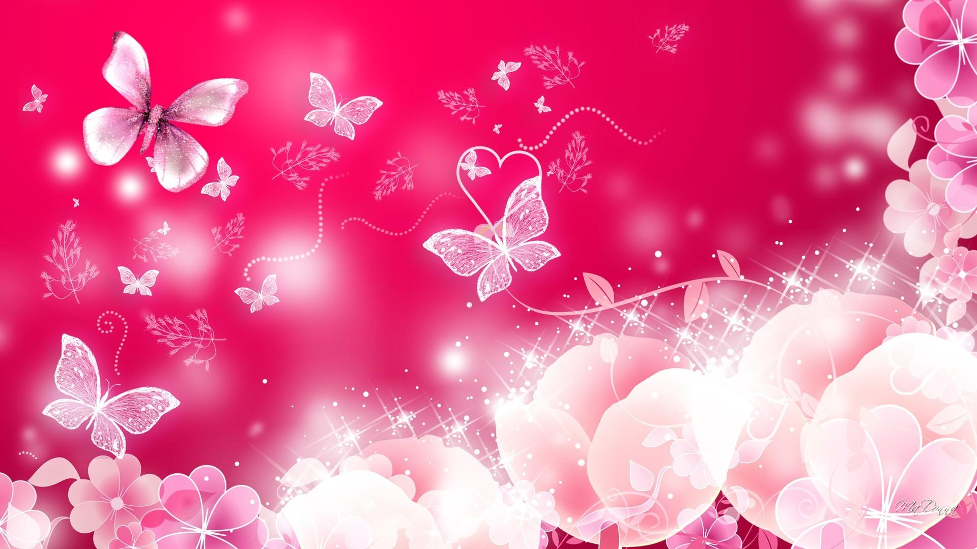 Neon Butterfly Live Wallpaper - Pink Beautiful Wallpaper Butterfly - HD Wallpaper