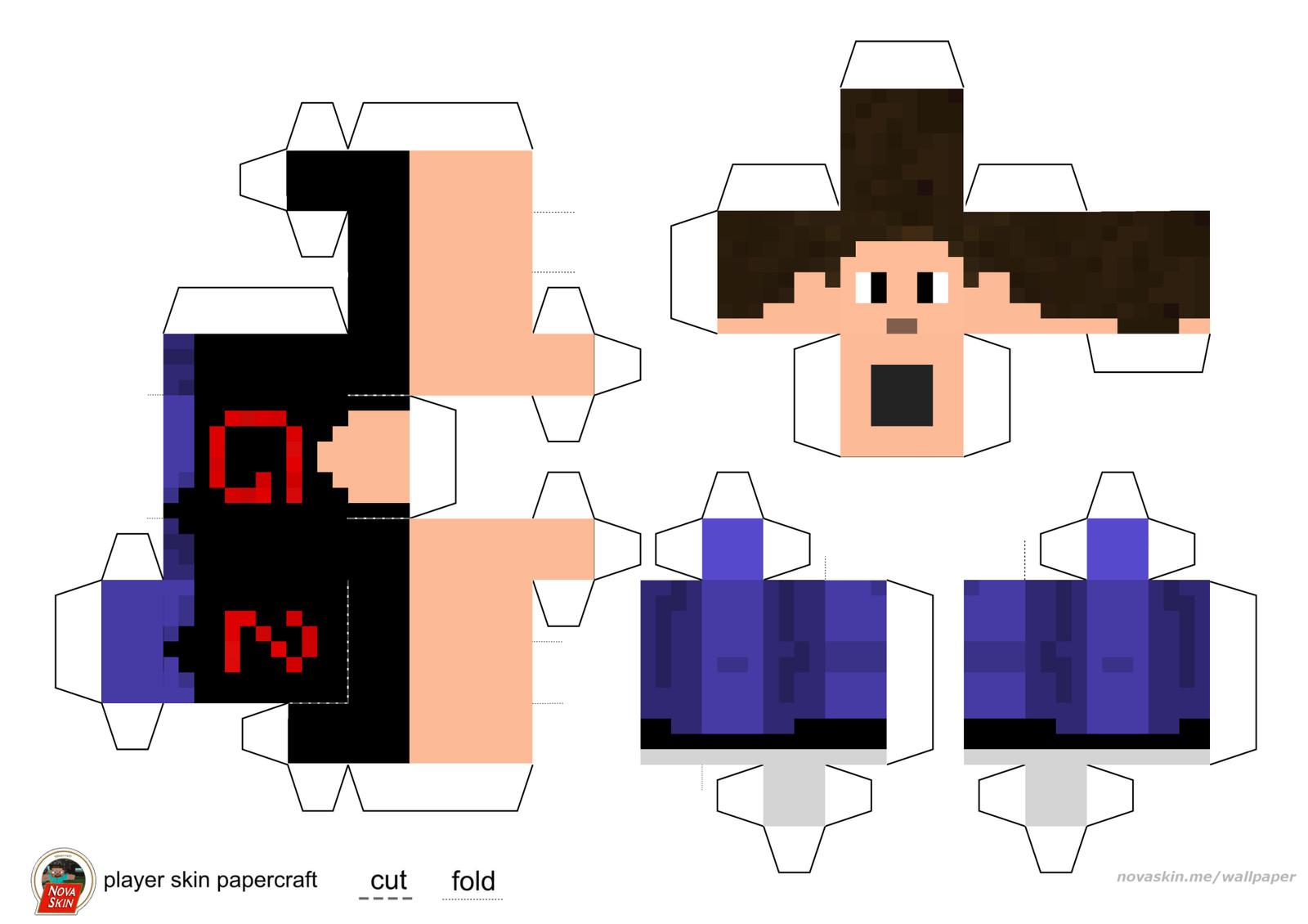 Papercraft Minecraft Skins Youtubers - 10x10 Wallpaper - teahub.io
