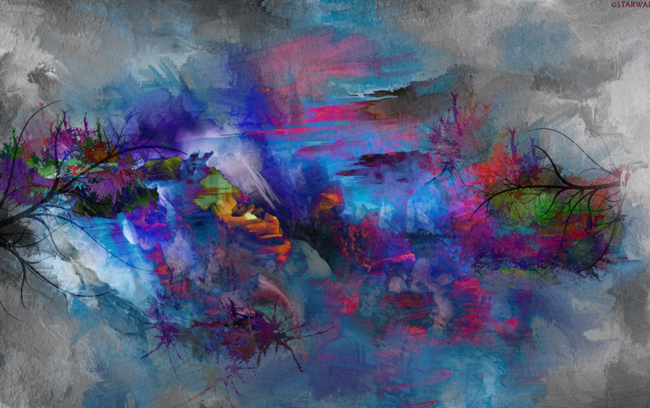 Abstract Nature Painting Wallpapers - Abstract Painting Cover - HD Wallpaper