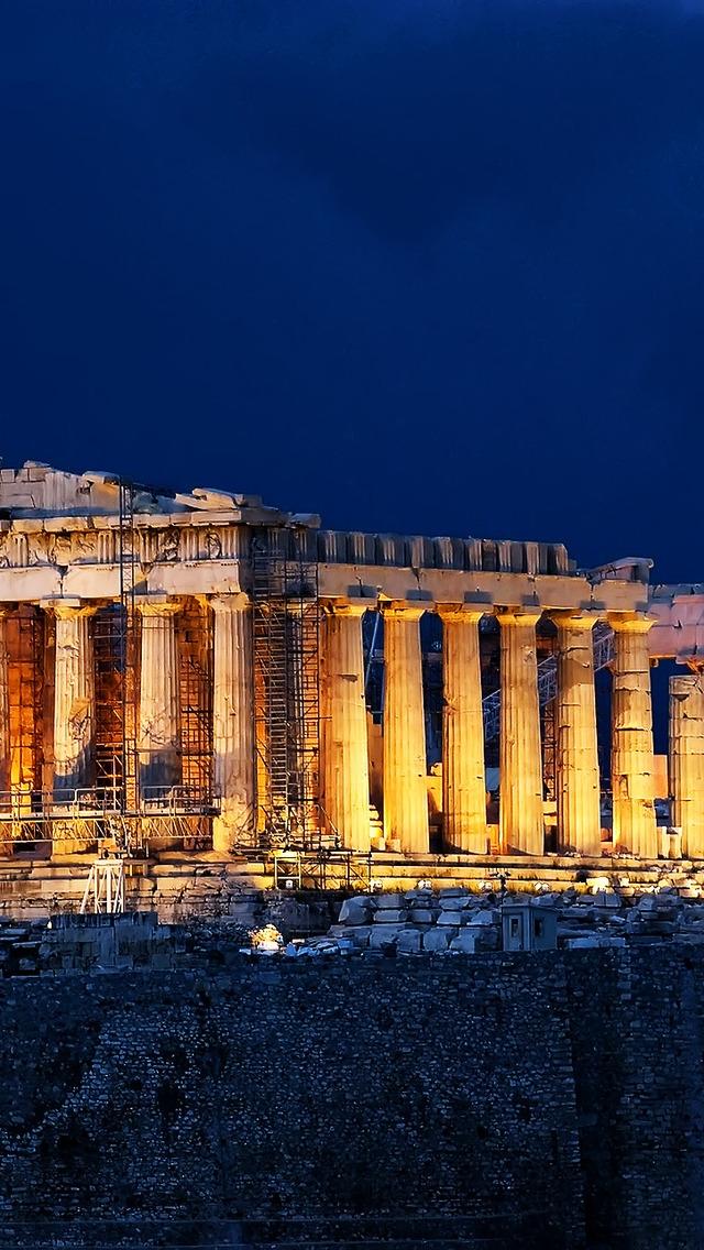 Parthenon Acropolis Athens For 640 X 1136 Iphone 5 - Greece Athens Acropolis - HD Wallpaper