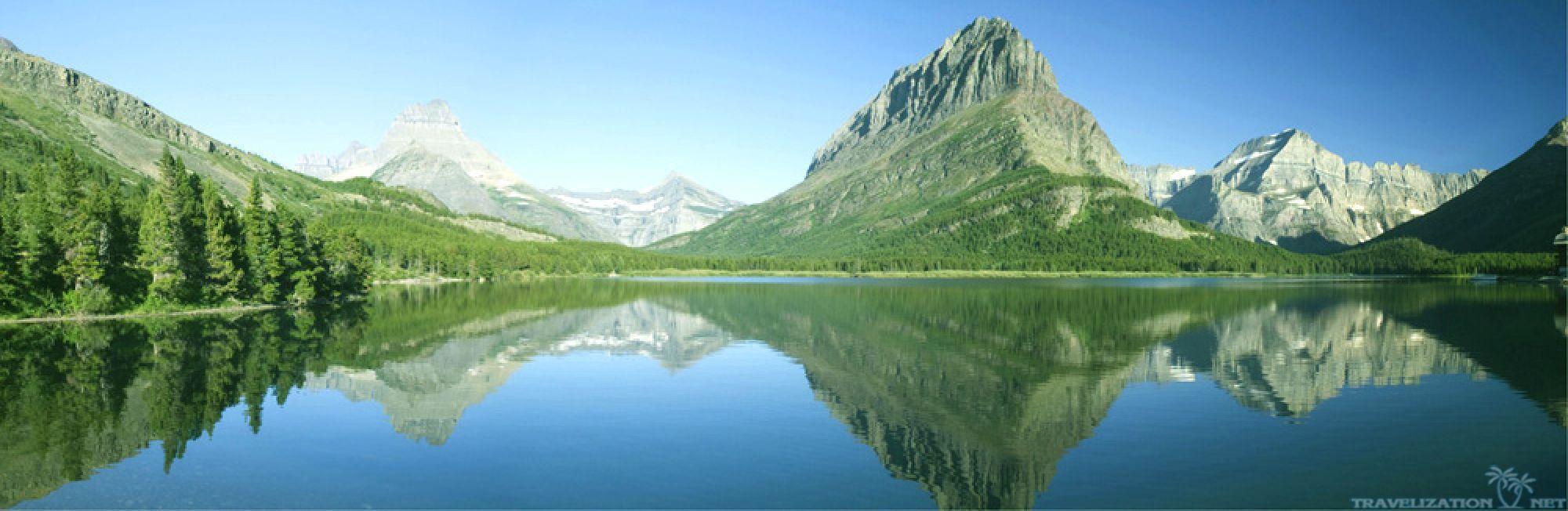 K Ultra Hd Panorama Wallpapers Hd Desktop Backgrounds Swiftcurrent Lake 2000x652 Wallpaper Teahub Io