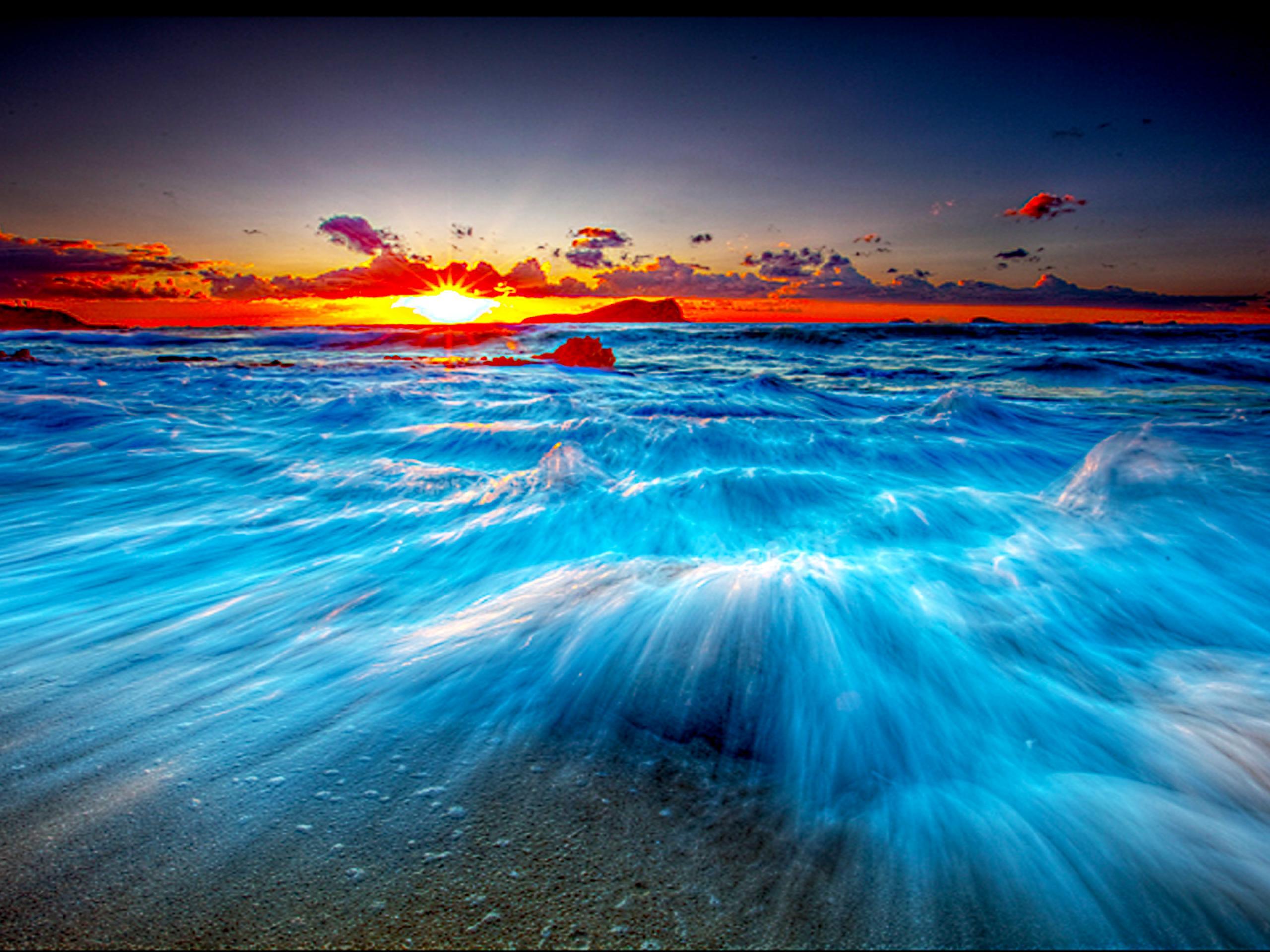 Desktop Photo Background Wave Backgrounds Ocean Wallpapers - Beach Waves Background Hd - HD Wallpaper