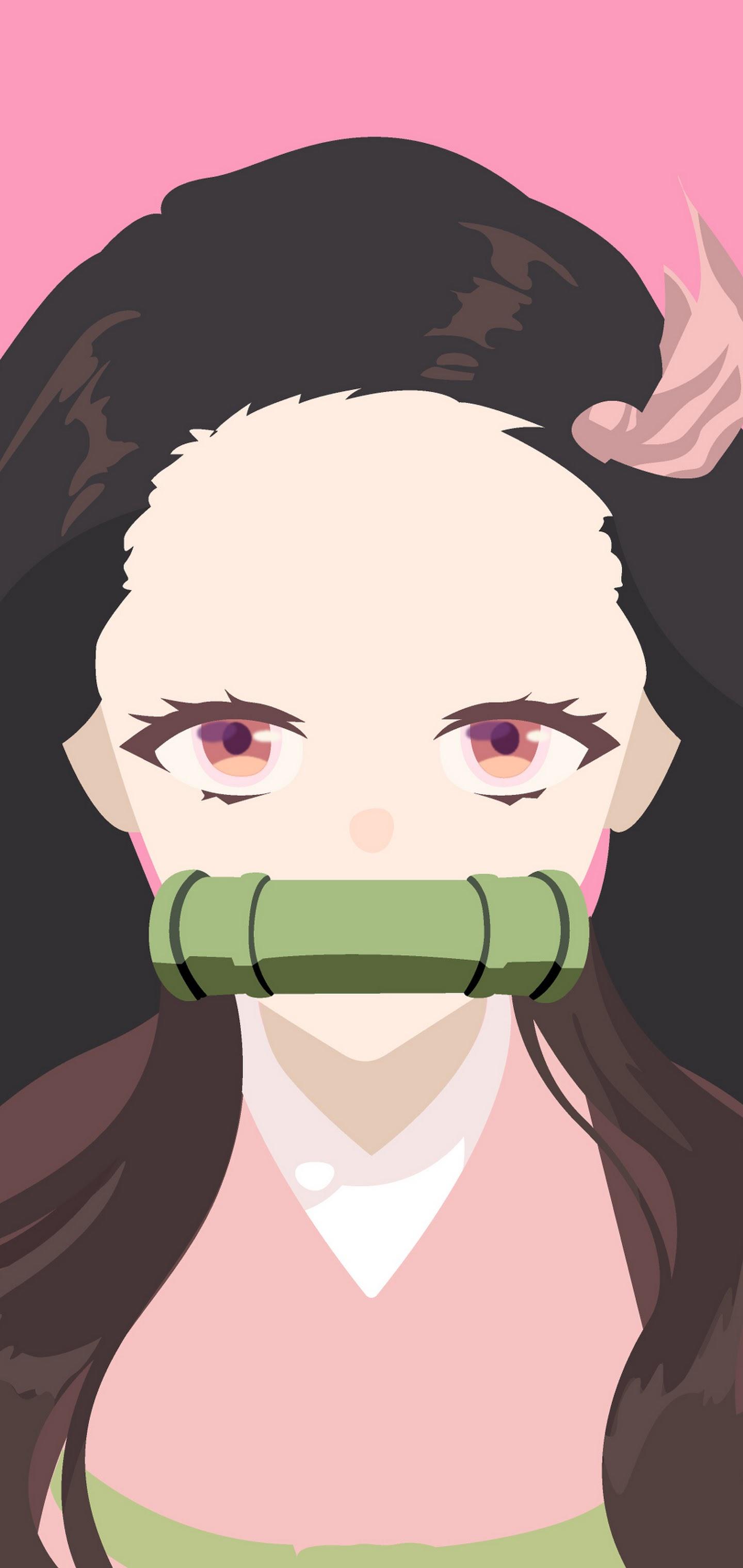 Nezuko Kamado, Kimetsu No Yaiba, Minimalist, 4k, - Kimetsu No Yaiba Nezuko - HD Wallpaper