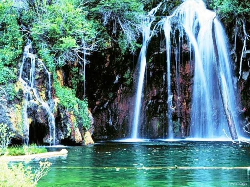 Wallpaper Pemandangan Alam 3d Glenwood Canyon Hanging Lake 800x600 Wallpaper Teahub Io