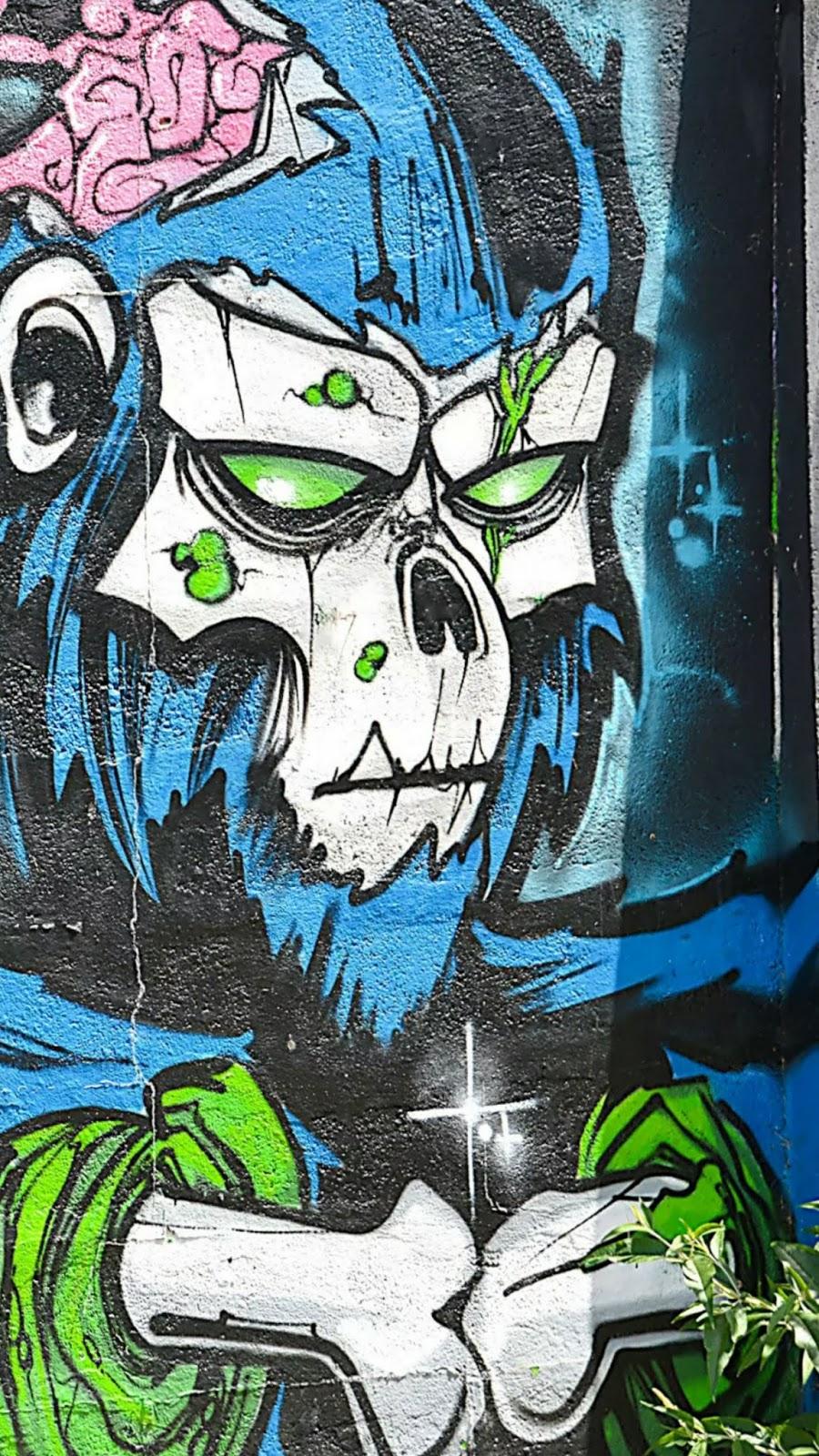 Wallpaper Graffiti Keren Untuk Hp Android - Street Art Monkey - HD Wallpaper