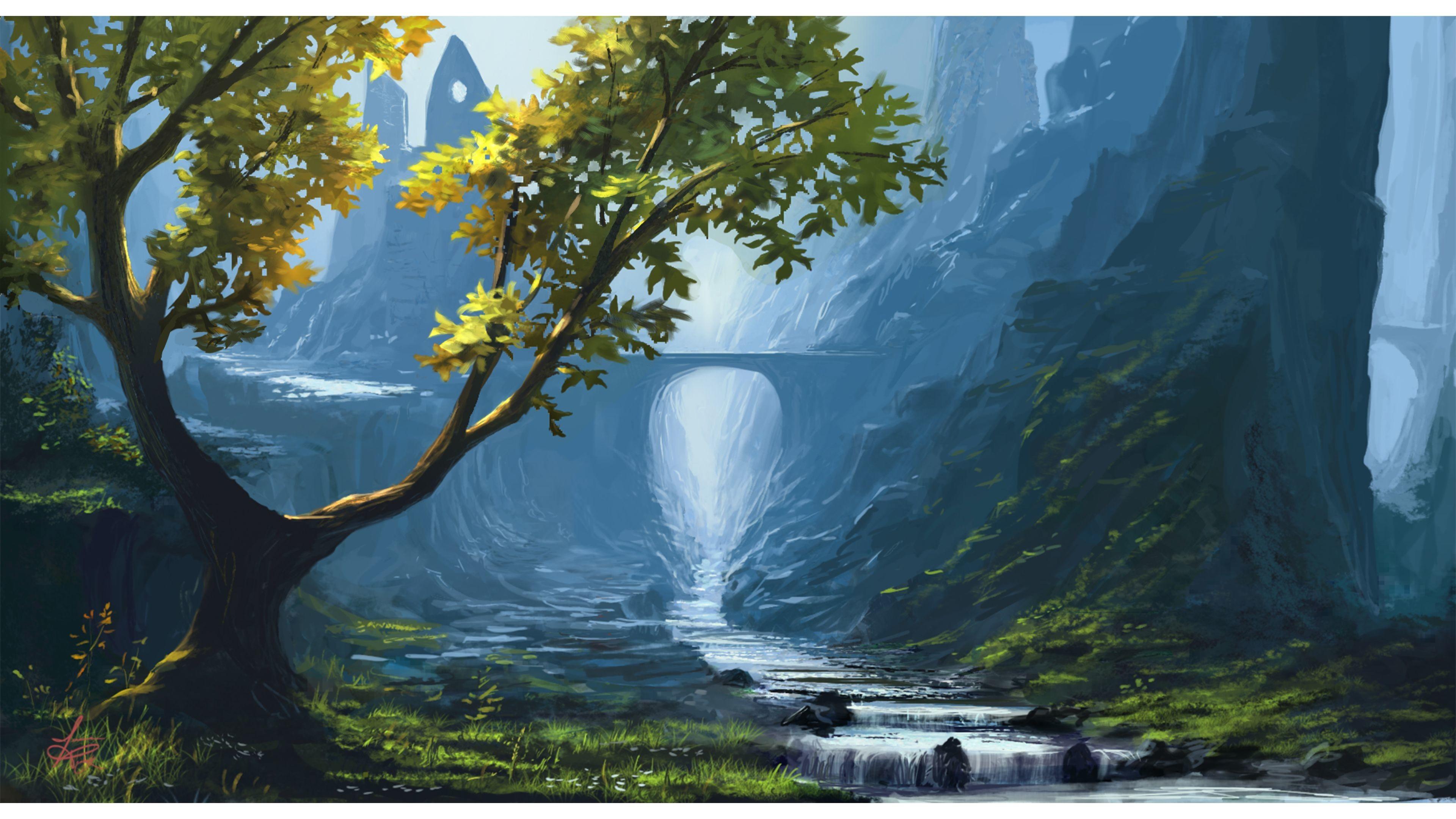 3840x2160 Fantasy 4k Nature Wallpaper Beautiful Natural Scenery Art 3840x2160 Wallpaper Teahub Io