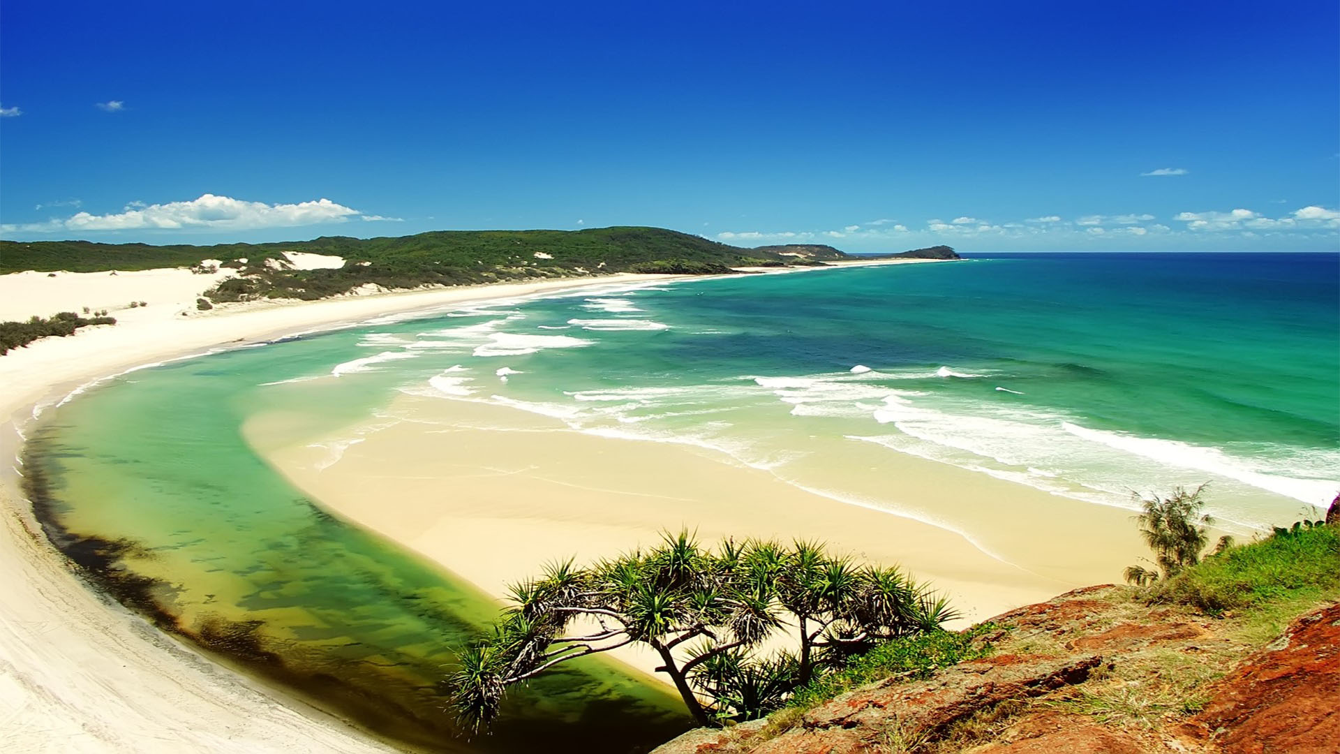 Nature Hd Wallpapers For Desktop 4k 3d Nature Beautiful Fraser Island 1920x1080 Wallpaper Teahub Io