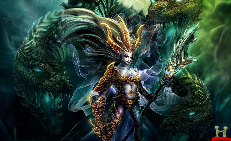 Gambar Wallpaper 3d Dragon Gambar Dp Bbm - Goddess Dragon Fantasy Art - HD Wallpaper
