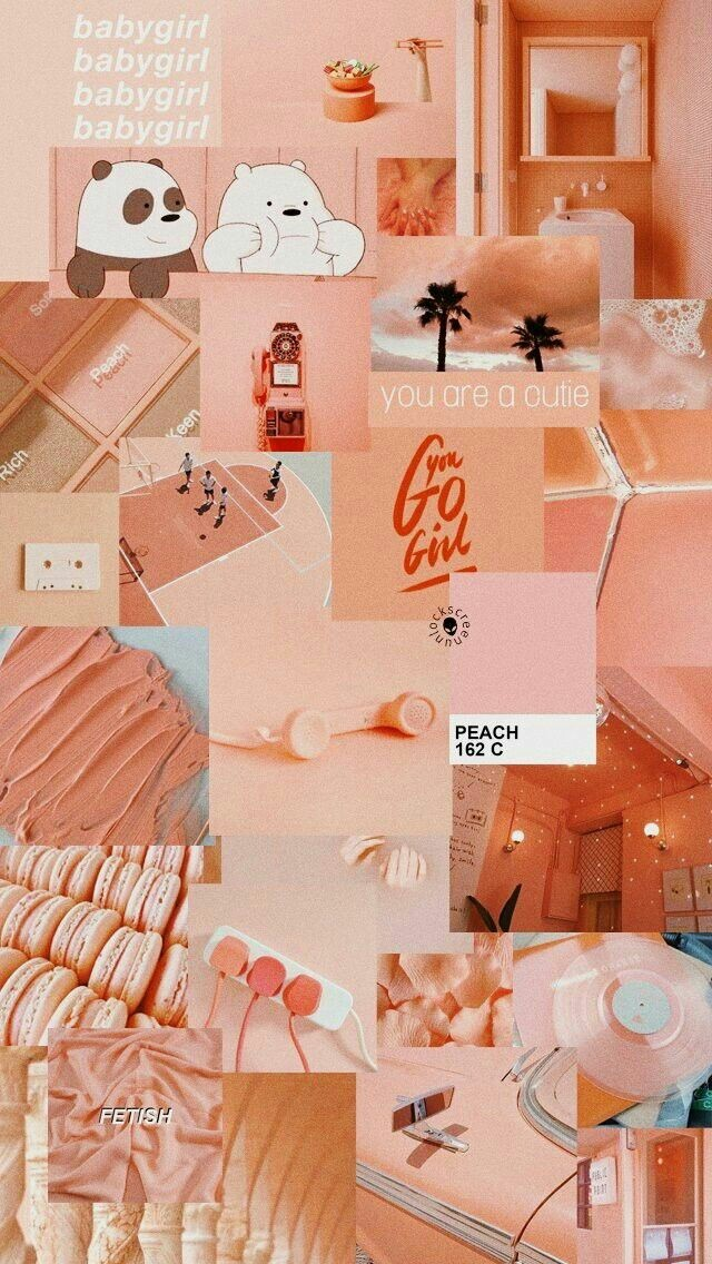 Image Aesthetic Peach Background 640x1136 Wallpaper Teahub Io