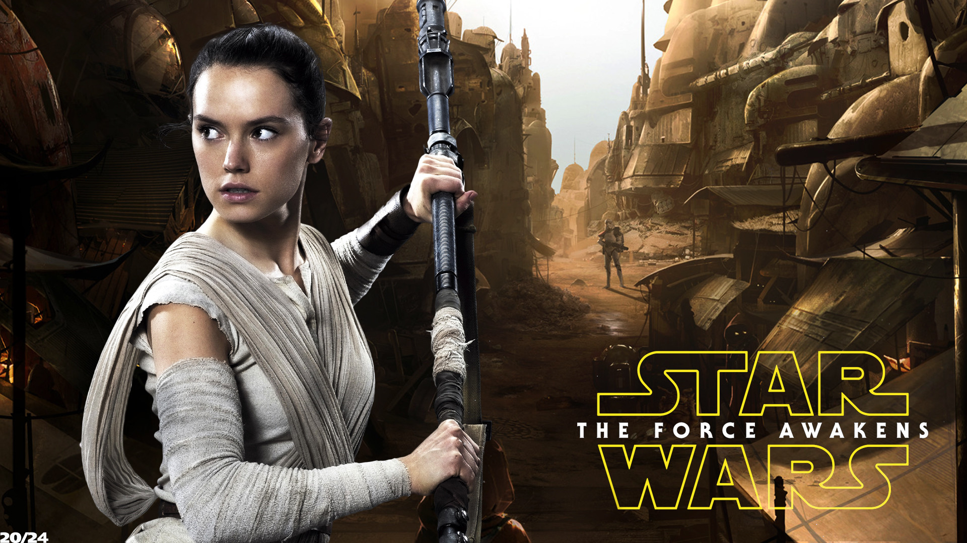 Daisy Ridley Rey Star Wars001 By Funkycop999 Data Rey Wallpapers Star Wars 1920x1080 Wallpaper Teahub Io