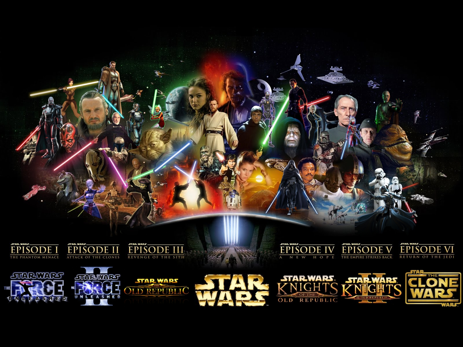 Star Wars Wallpaper Saga 1600x1200 Wallpaper Teahub Io