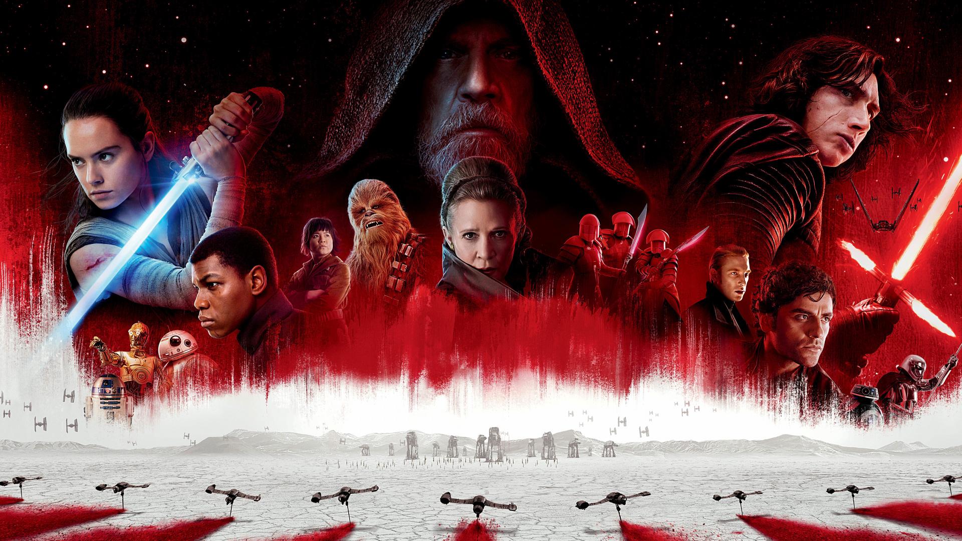 The Last Jedi Movie Poster 2017 Wallpaper Star Wars The Last Jedi 1920x1080 Wallpaper Teahub Io