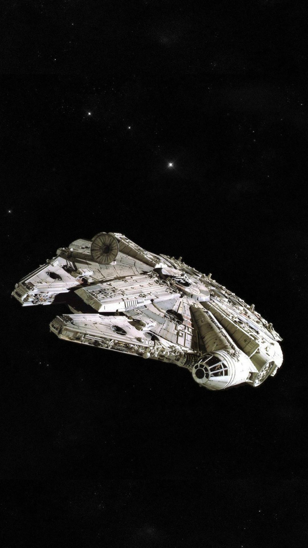 Millennium Falcon Spaceship Star Wars Mobile Wallpaper Millennium Falcon Wallpaper Mobile 1080x1920 Wallpaper Teahub Io