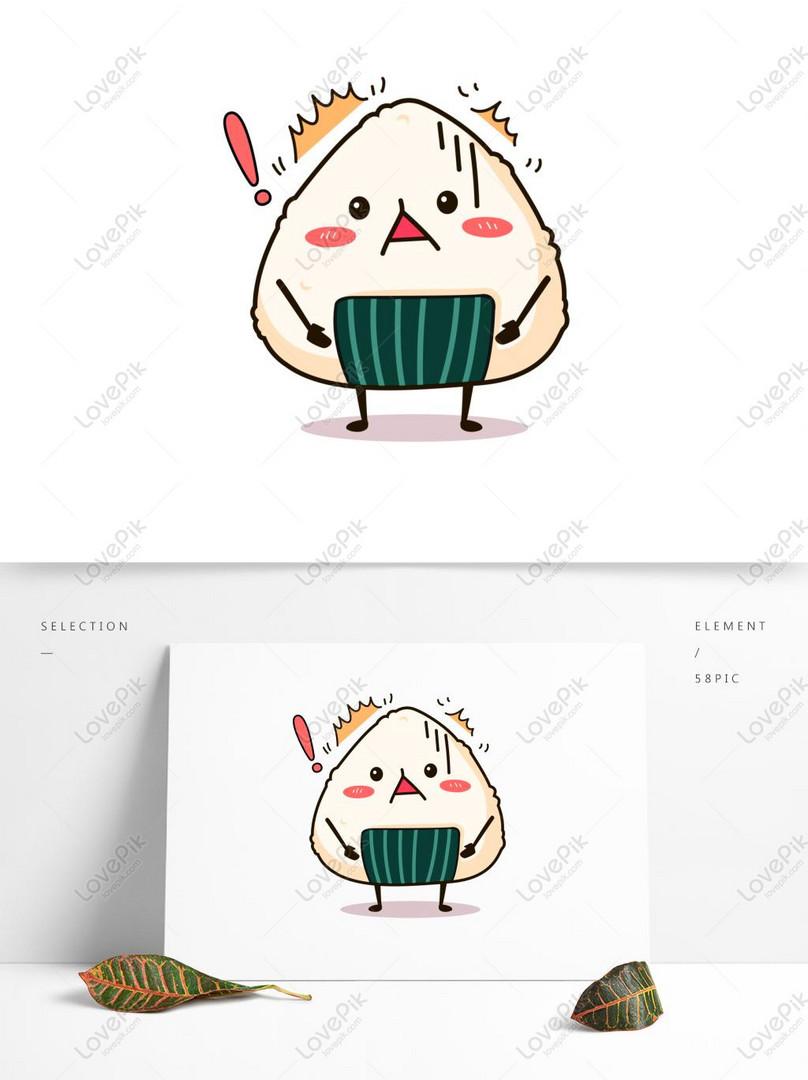 Makanan Sushi Kartun Lucu Ekspresi Vektor Gaya Jepang - Kartun Makanan Yang Lucu - HD Wallpaper