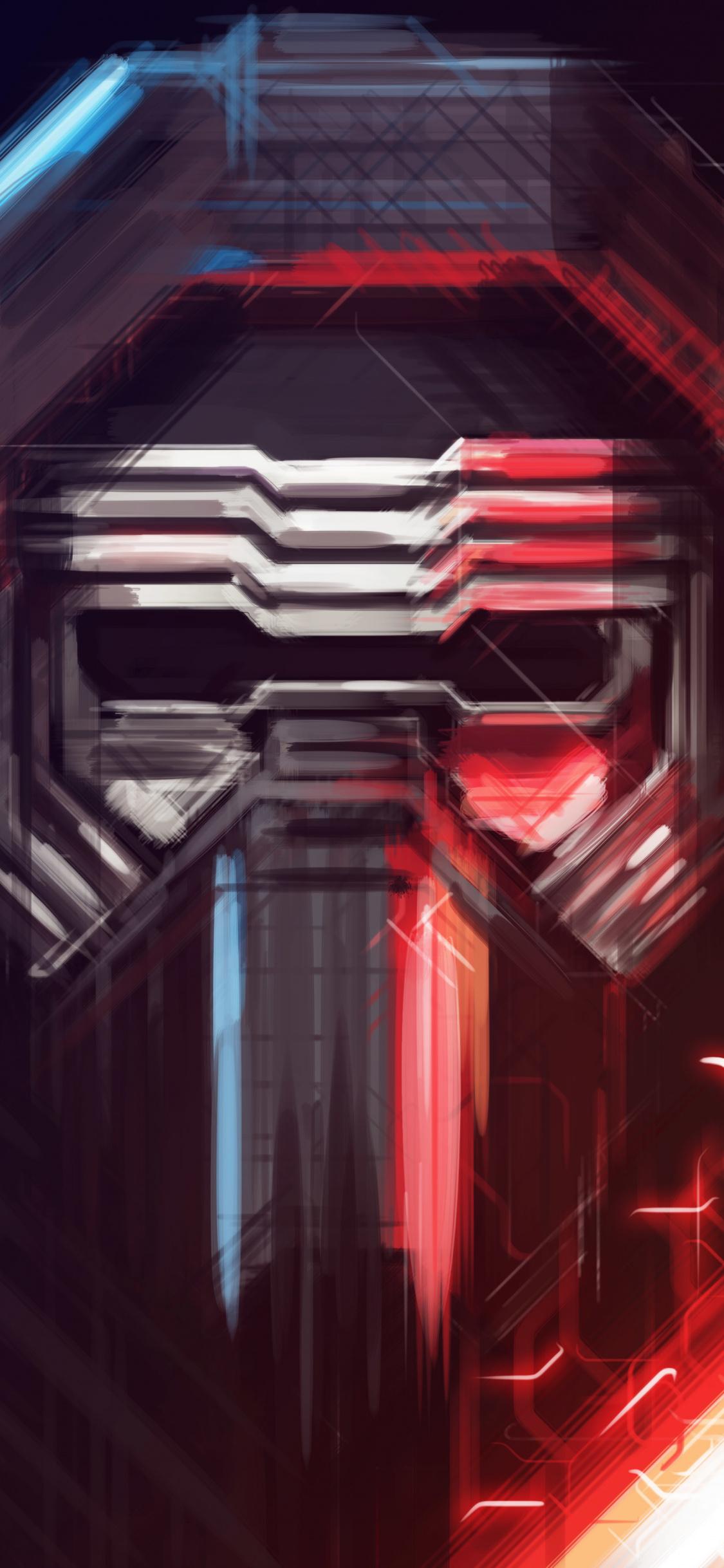 Kylo Ren Star Wars Villain Art Wallpaper Star Wars Iphone X Wallpaper Hd 1125x2436 Wallpaper Teahub Io