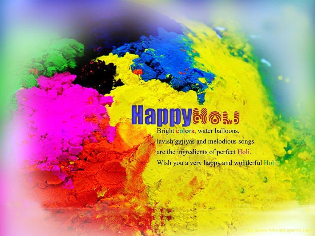 Happy Holi Festival Colors Greetings Wishes Hd 3d Wallpaper - Happy Holi Wishes To You And Your Family - HD Wallpaper