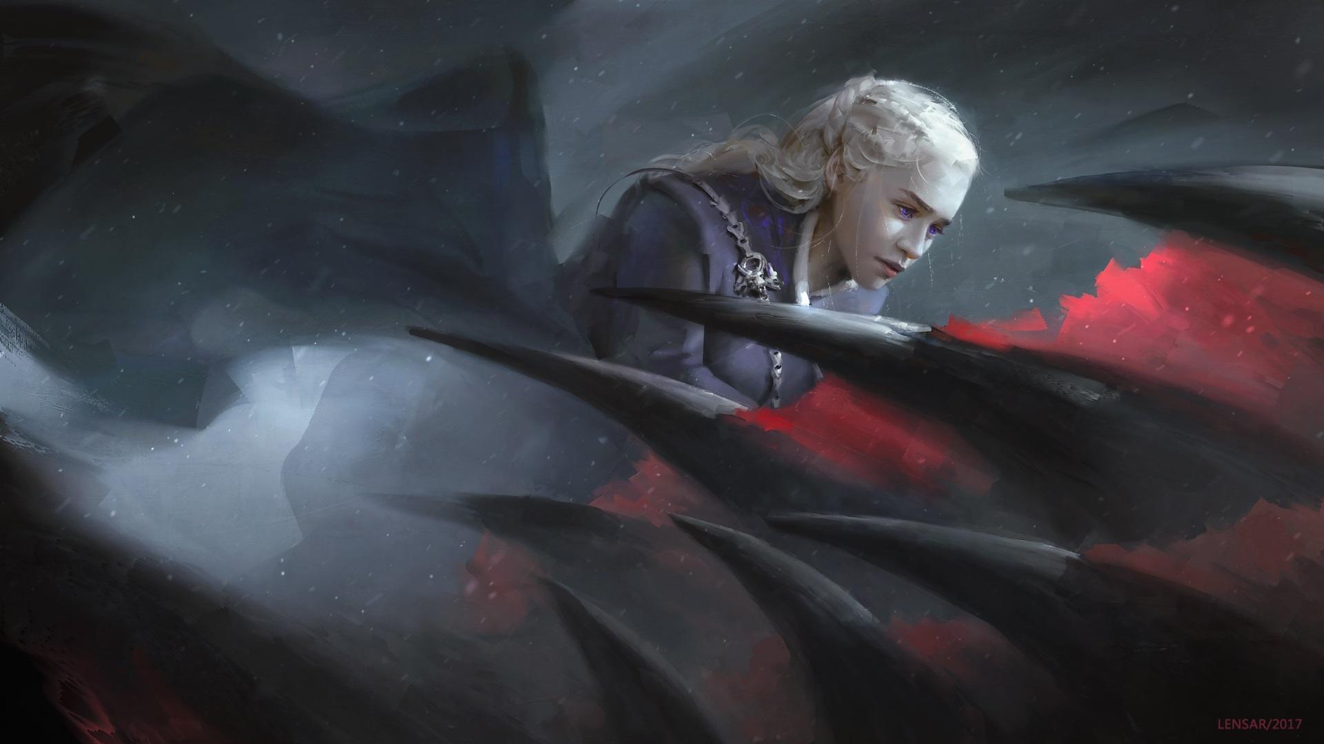 Daenerys Dragon Targaryen Game Of Thrones - HD Wallpaper