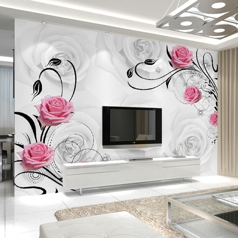 Wall Flower Designs For Drawing Room - HD Wallpaper