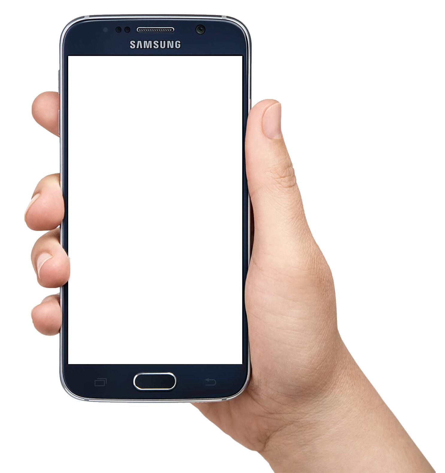 Samsung Mobile Png Hand - HD Wallpaper