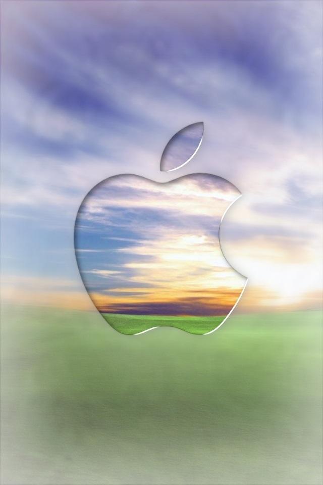 Hd Apple Scenery Logo Iphone 4 Wallpapers - Apple Iphone Logo Summer - HD Wallpaper